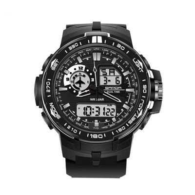 4GL Sanda Fashion Men Dual Display Multifunction Sport Watch 737