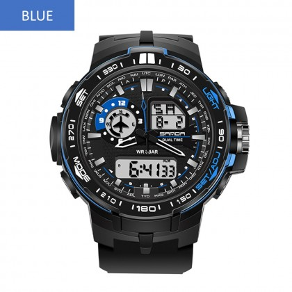 4GL Sanda 737 Fashion Men Dual Display Multifunction Sport Watch Jam Tangan