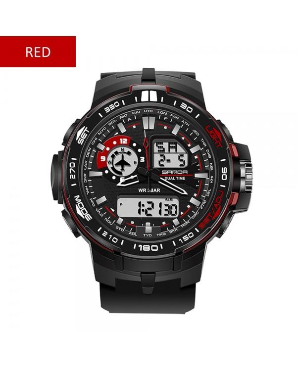 4GL Sanda 737 Fashion Men Dual Display Multifunction Sport Watch Jam Tangan