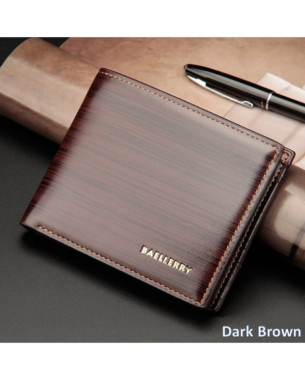 Baellerry Top Quality Men Short Wallet Wallets Leather Purse DR005