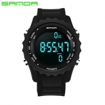 4GL Sanda 370 Men Sports Pedometer Waterproof Counter Shock Wristwatch