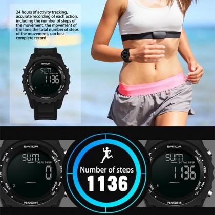 4GL Sanda 370 Watch Men Sports Pedometer Waterproof Counter Shock Wristwatch