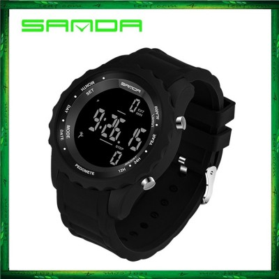 Sanda 370 Casual Men Sports Waterproof Counter Shock Wristwatch
