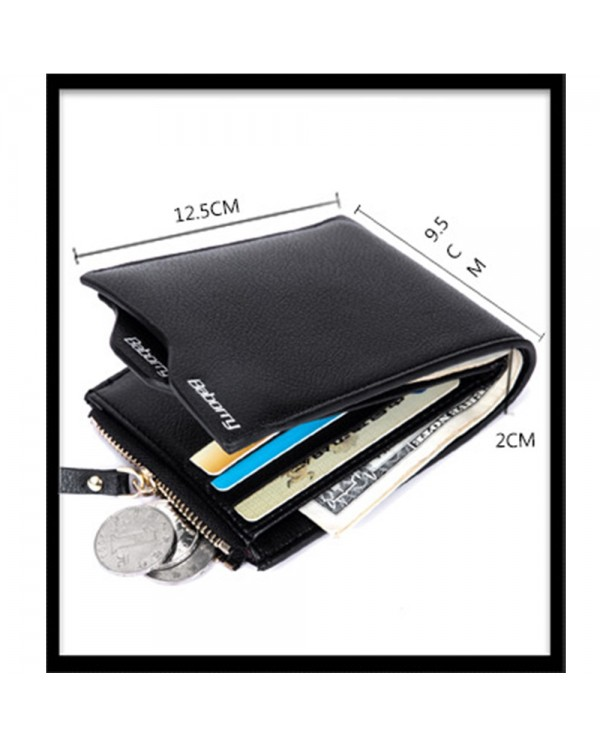 Baborry QB-02  Men Zipper Wallets With Card Cash holder And Coin Purse