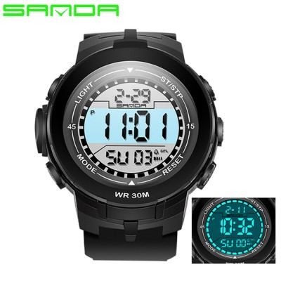 4GL Sanda 340 Men Women Sports Digital LED Watch Jam Tangan