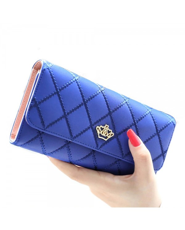 4GL Korean Fashion Women Long Purse Clutch Crown 738