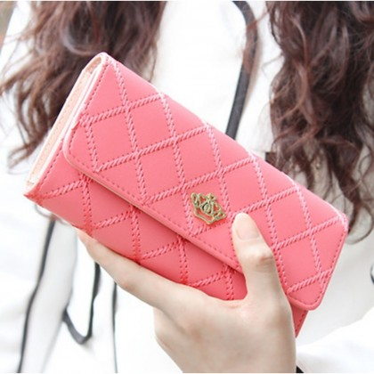 4GL Crown 738 Long Purse Korean Fashion Women Clutch