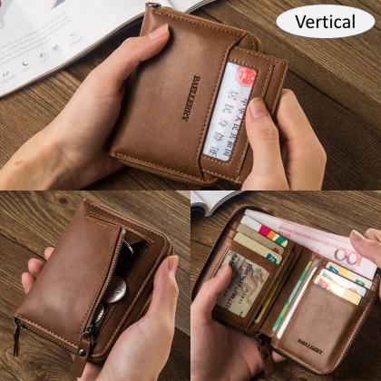 4GL Baellerry D3124 Men Short Wallet Coin Purse Card Holder Dompet Beg