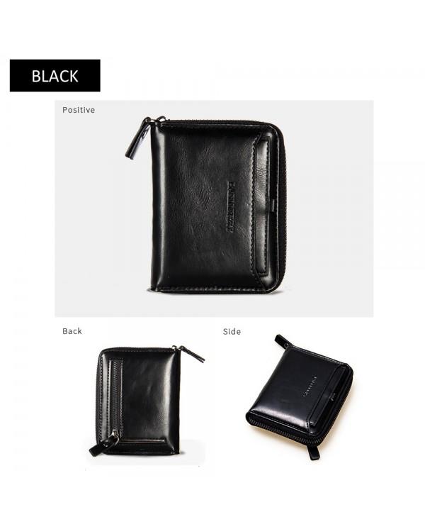 4GL Baellerry Men Women Wallet Short Purse Zipper Dompet D3124 Vertical