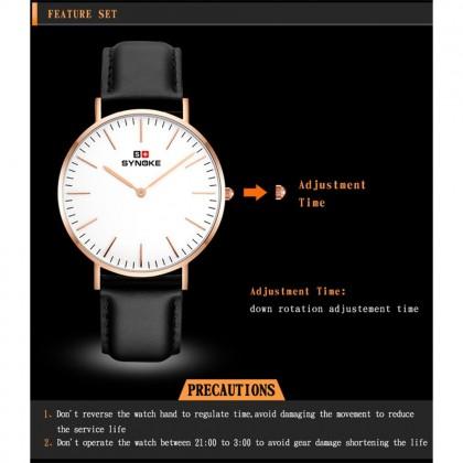 4GL Synoke 3601 Watch Simple Ultra-thin Quartz-Watch Classic Nylon Strap Waterproof