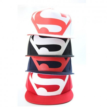 4GL Superman Big S Snapback Cap Hats For Men Women