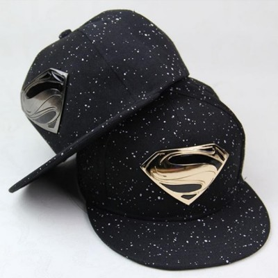 Superman Gold Silver Plated Snapback Cap Men Women