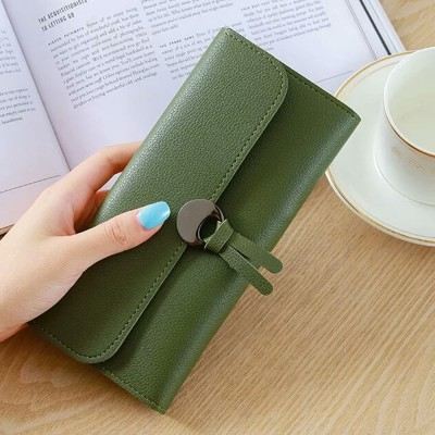4GL Korean Fashion Plain Colour Women Long Purse 109F