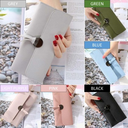 4GL 109F Korean Fashion Plain Colour Women Long Purse