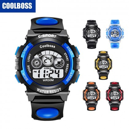 4GL CoolBoss / Cooboss Kids Sports Digital LED Watch Jam Tangan