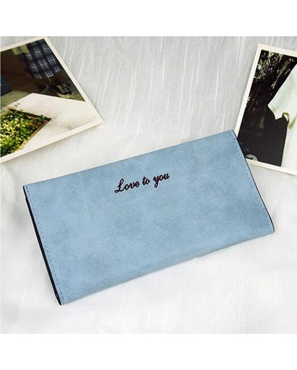 4GL Love To You Simple Women Slim Long Purse Wallet Love01