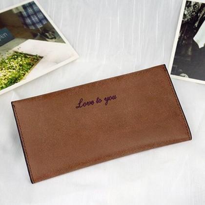 4GL Love To You Simple Women Slim Long Purse Wallet Love01