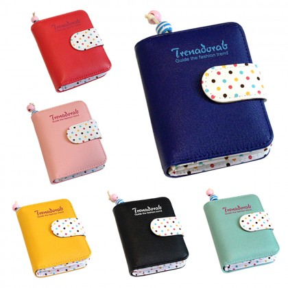 4GL Trena Korean Fashion Short Purse Wallet With Coin Pocket Zip