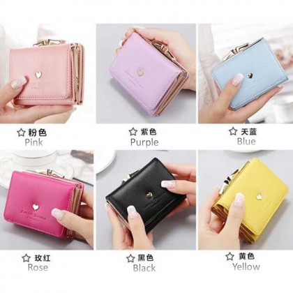 4GL Korean Fashion Fold Over Short Women Purse AX16