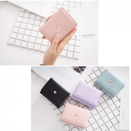 4GL AX16 Short Purse Korean Fashion Fold Over Women Wallet