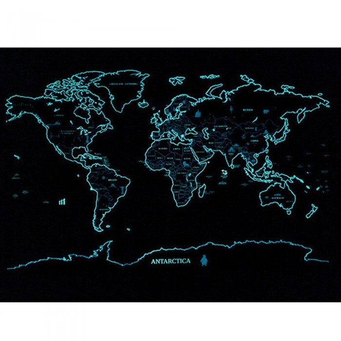 Travel life scratch off starry night luminous world map poster gumiabroncs Gallery