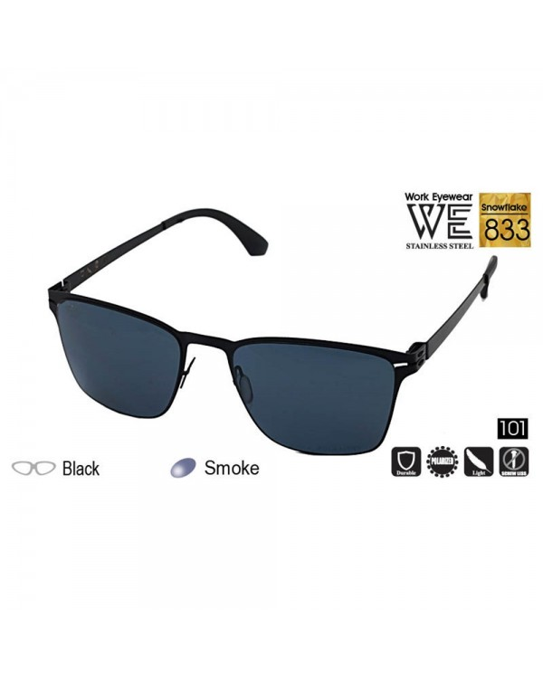 4GL Work Eyewear Snowflake 833  Stainless Steel Screwless Light Polarized Sunglasses