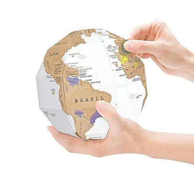 4GL 3D DIY Deluxe Scratch Map Globe