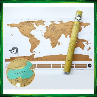 Scratch Off White Background Deluxe World Map Personalized Travel Map Poster