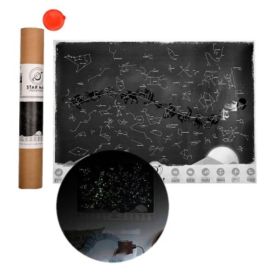 4GL Glow In The Dark Wall Sticker Decals Luminous Astronomy Star Map Poster