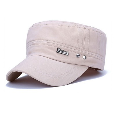4GL Venture Cap Summer Adjustable Plain Cotton Baseball Cap Snapback Flat Hat