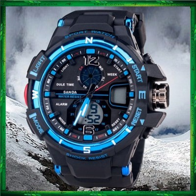 SANDA 2889 Men Watch Fashion Waterproof Analog Sports Jam tangan