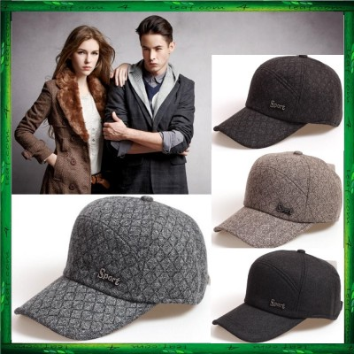 Warm Winter Thickened Baseball Cap With Ears Men'S Cotton Hat Snapback