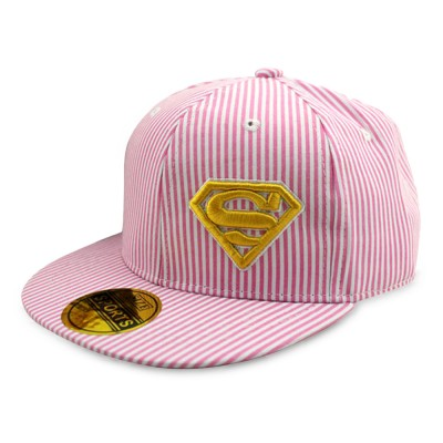 4GL Superman Stripe Ladies Women Cap Snapback Hat