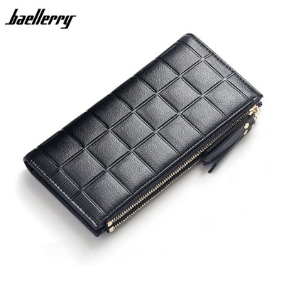 4GL Baellerry Y138 Women Card Holder Coin Bag Double Zipper Long Wallet