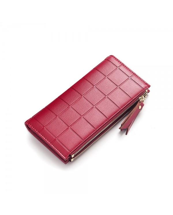4GL Baellerry Y138 Women Card Holder Coin Bag Double Zipper Long Wallet