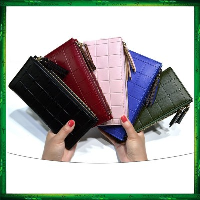 Baellerry Y138 Wallet Women 10 Card Holder Coin Bag Double Zipper Long Wallet
