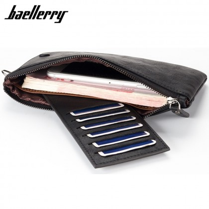 4GL Baellerry C1288 Large Zip Vintage Long Wallet Women Purse Dompet