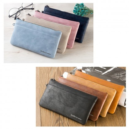 4GL Baellerry C1288 Long Wallet Large Zip Vintage Women Purse Dompet