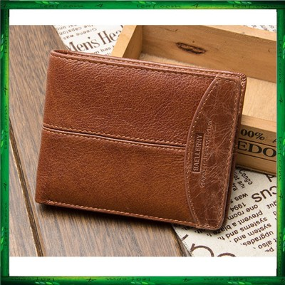 Baellerry 208 Leather Wallet Short Wallet Men