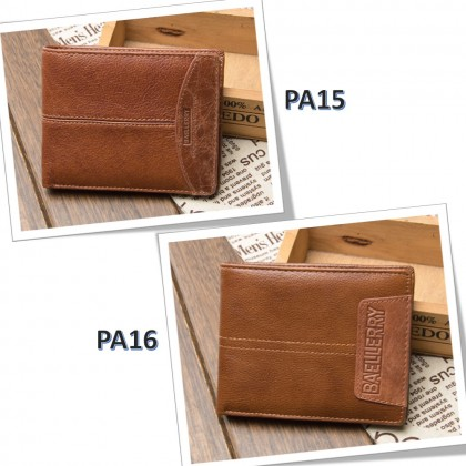 4GL BAELLERRY Leather Wallet Men Short Wallet Dompet 208-PA15