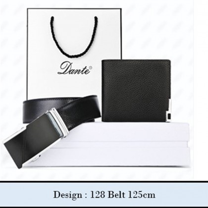 4GL Dante DWB01 Gift Set Premium Men's Leather Belt Wallet