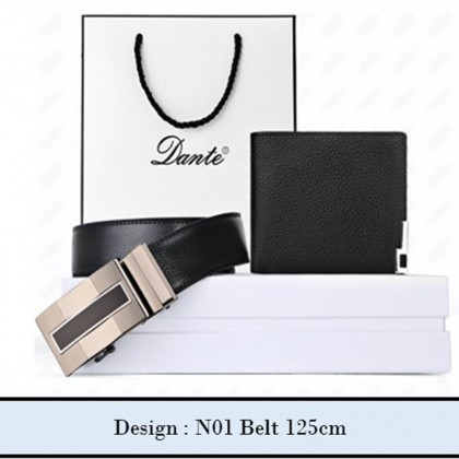 4GL Dante DWB01 Premium Men's Leather Belt Wallet Gift Set