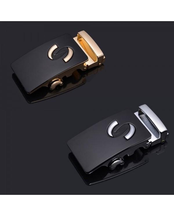 4GL LB08 Business Men Leather Automatic Buckle Belts Luxury Belt