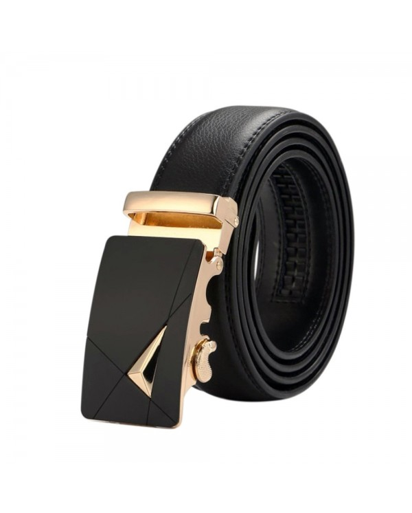 4GL LB09 Business Men Leather Automatic Buckle Belts Luxury Belt