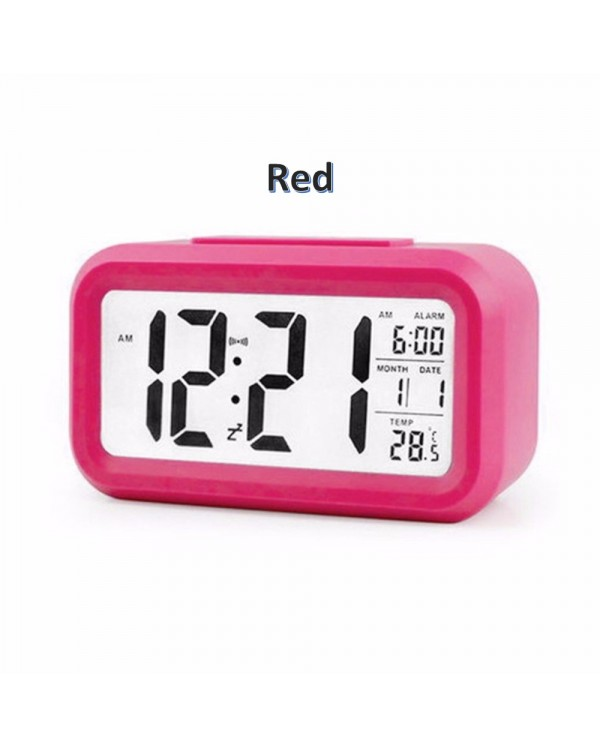2018 Modern Home Smart Optical Back-Light Control LCD Clock Digital Clock Clock01