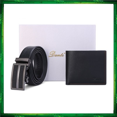 Dante Premium Men Wallet Belt Gift Set DWB02