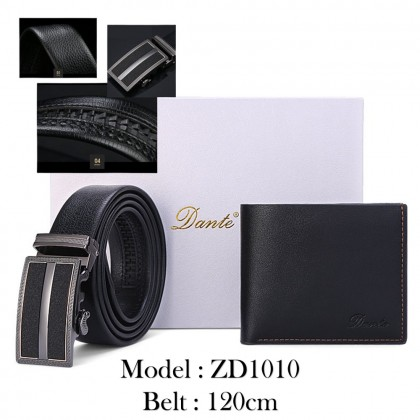4GL Dante DWB02 Gift Set Premium Men's Leather Belt Wallet