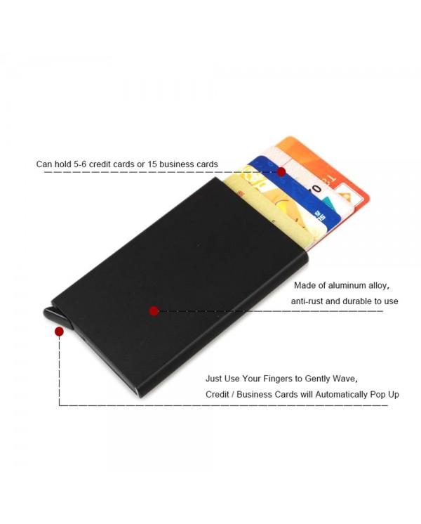 4GL RFID Protected Pop-up Metal Card Holder 870-00