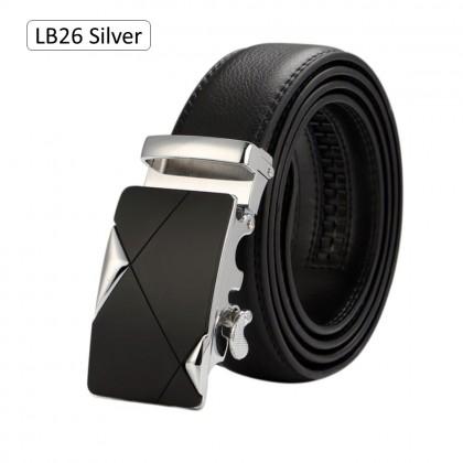 4GL LB Series Luxury Men Long Leather Belt Tali Pinggang 130CM