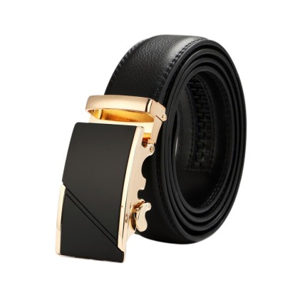 4GL LB05 Business Men Leather Automatic Buckle Belts Luxury Belt